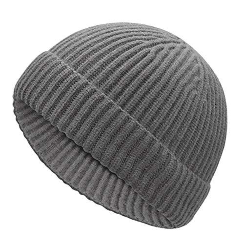 [해외]Fashionhe Warm Cap Winter Knit Visor Hats UniPure Color Cap Windproof Hat Soft Ski Cap / Fashionhe Warm Cap Winter Knit Visor Hats UniPure Color Cap Windproof Hat Soft Ski Cap(Gray)