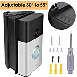 Adjustable (30 to 55 Degree) Angle Mount Compatible Ring Wi-Fi Enable Doorbell/Ring Video Doorbell 2, Replacement Angle Adjustment Mounting Plate Bracket Wedge Corner Kit with Screwdriver and Screws