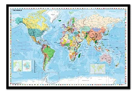 World map with flags pinboard cork board with pins framed in black world map with flags pinboard cork board with pins framed in black wood includes pins gumiabroncs Image collections