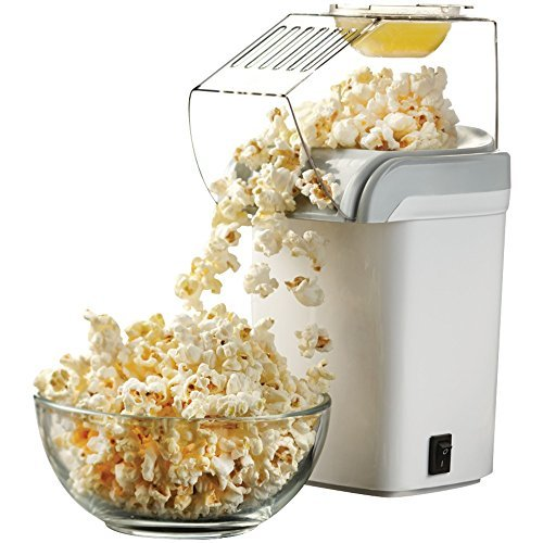 1 - Hot Air Popcorn Maker, 1,200W, Pops using hot air, 1-switch operation