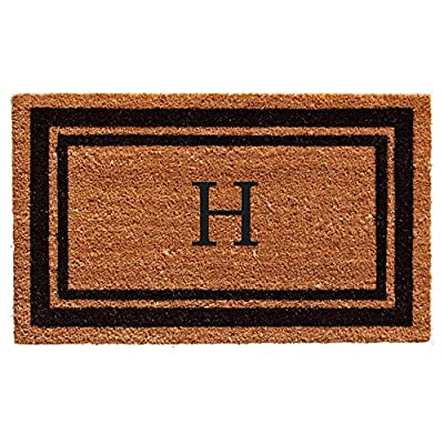 "Calloway Mills 152962436A Black Border 24"" x 36"" Monogram Doormat,"