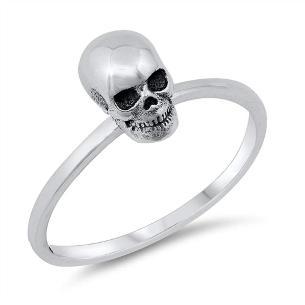 CloseoutWarehouse Sterling Silver Baby Skull Ring