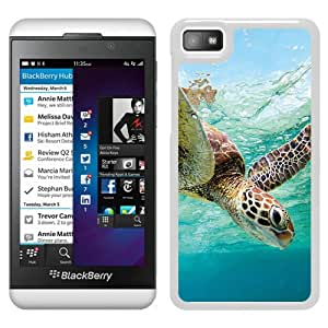 Beautiful Designed Cover Case For Blackberry Z10 With Ocean Sea Turtle White Phone Case