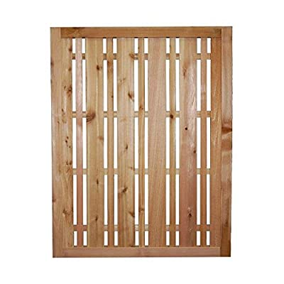 3 ft. x 2.5 ft. Western Red Cedar Privacy Lattice Fence Panel