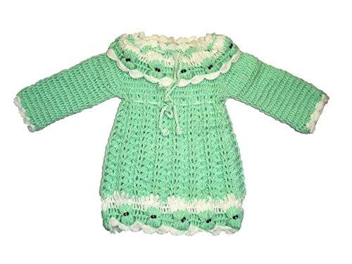 d8473261dd67 CutiePie Collections Baby Girl s Woolen Handmade Sweater Frock (hand ...