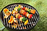 HIC Reusable Barbecue and Grilling Shish Kabob Skewers with Ring-Handle Top, 12-Inches Long, Set of 4