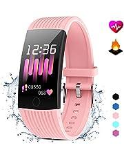 GOKOO Fitness Armband mit Pulsmesser Damen Herren Wasserdicht IP67 Fitness Tracker Smartwatch Aktivitätstracker Pulsuhr Schrittzähler Uhr Sportuhr für Anruf SMS SNS Beachten für iPhone Android Handy