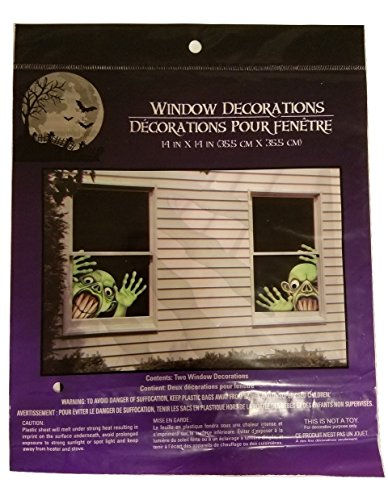 [Halloween Creepy Spooky Stickers Decor Home Window Gel Clings Decorations Haunted House ALIEN by nknown] (Cheap Homemade Alien Costumes)