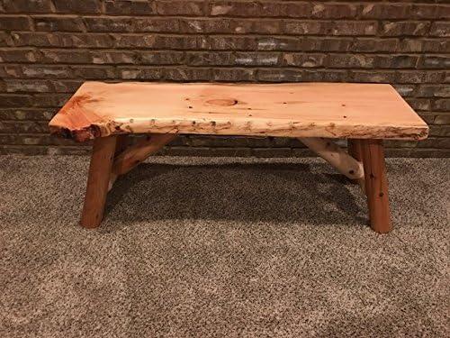 Amazon Com Rustic Log Bench Pine And Cedar With Live Edge