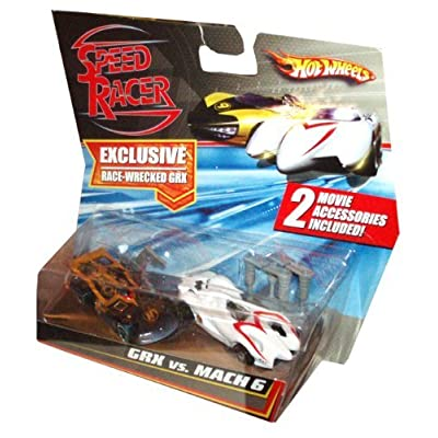 Hot Wheels HW Speed Racer 1:64 2- Pack GRX VS MACH 6: Toys & Games
