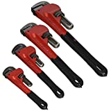 Grizzly H6271 Steelex Pipe Wrench Set 8-Inch/10-Inch/14-Inch/18-Inch, 4-Piece