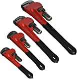 Grizzly H6271 Steelex 4-Pc. Pipe Wrench Set 8-Inch, 10-Inch, 14-Inch, 18-Inch