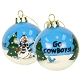 Blown Glass Hand Painted Sports Christmas Ornaments - Dallas Cowboys