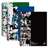 "Viva Activa Creative College Ruled Spiral Notebook, 1 Subject, 100 Pages, 8.5"" x 11"", Graffiti Design, 3 Pack (Black, Blue, Green)"