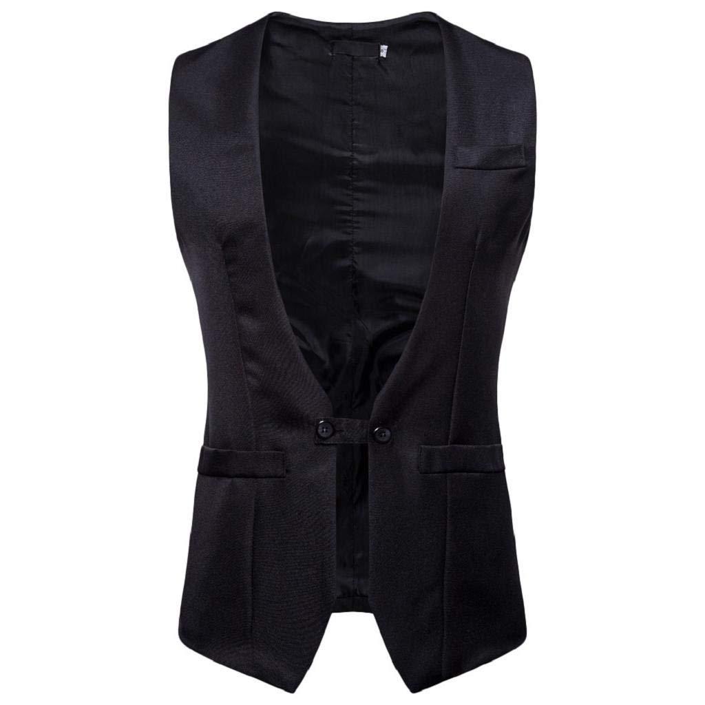 REYO Men's Jacket Winter Autumn Winter Casual Pocket Waistcoat Vest Jacket Top Blouse Coat