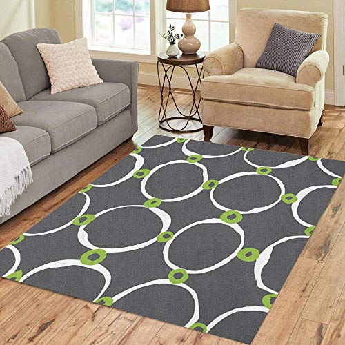 (Pinbeam Area Rug Gray Sketchy Circles Simple and for All Purposes Home Decor Floor Rug 5' x 7' Carpet)