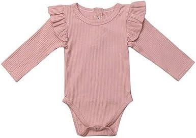 MAYOGO Ropa Recién Nacido bebé Niña Otoño Color sólido ...