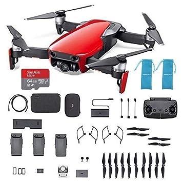 DJI Mavic Air, Combo de dron cuadricóptero portátil Rojo con ...