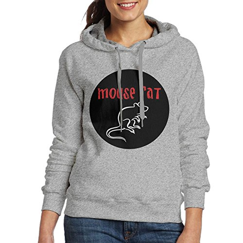 Hoodies For Women Pullover Womens Sweaters Hooded Sweatshirt DerlonKaje Mouse Rat (Hooded Rat)