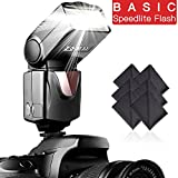 SAMTIAN Speedlite Flash Professional Electronic Camera Flash Speedlight for Canon Nikon Panasonic Olympus Pentax DSLR Cameras
