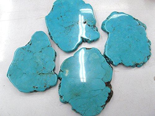 2pcs 80-100mm Turquoise Stone Slab Freeform Blue Turquoise Cabochons Turquoise Jewelry turquoise pendant (Shape Freeform Turquoise)
