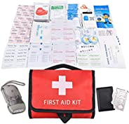 First Aid Kit Portable Waterproof 115 Pack Necessary Hospital Grade Medical Supplies for Emergency Survival Si