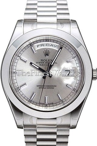 Rolex Datejust II 41mm Ice Blue Dial Platinum President Men's Watch 218206 (Rolex Day Date Ii Platinum Ice Blue)