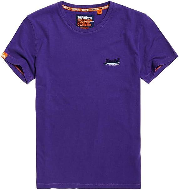 Superdry Label Vntge Emb S/S tee Camiseta de Tirantes para Hombre