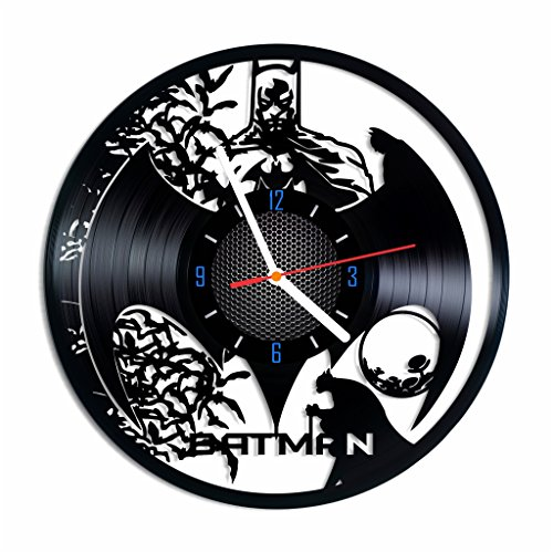 [SUPERHERO vinyl record wall clock, designed home decor, best gift idea for any occasion] (Frank Miller Batman Costume)