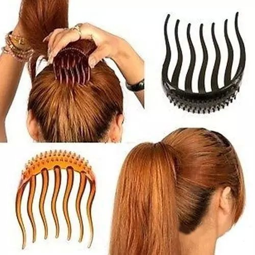 EYX Formula 3 Pcs Useful Volume Inserts Hair Clip Bumpits Bouffant Ponytail (Jade Maori Twist)