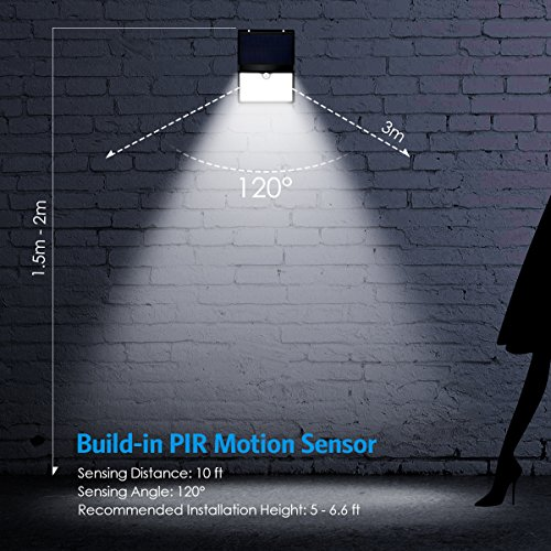 amir solar lights outdoor 16 led motion sensor wall light waterproof landscape lighting. Black Bedroom Furniture Sets. Home Design Ideas