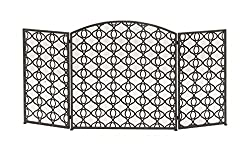 "Deco 79 50362 Chic Metal Fire Screen, 52"" W x 30"" H from Benzara"