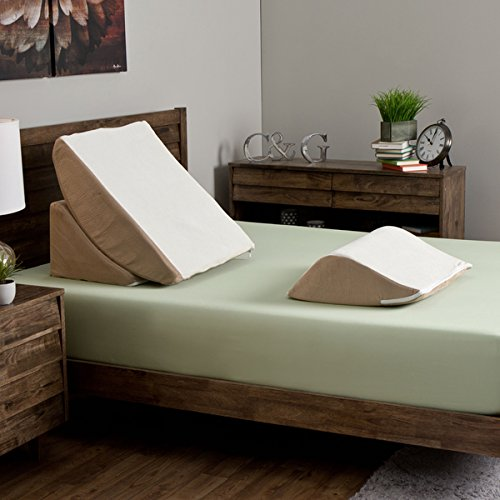 Hypoallergenic Zero Gravity Adjustable 3-Piece Memory Foam Wedge System with Removable Colors
