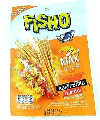 Fisho Brand, Fisho Fish Snack Extreme Barbecue Flavour 25g X 6 Packs by Fisho