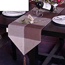 European-simplicity Yarn-dyed Plaid Table Table Runner, Cloth Placemats,Hotel Household Towel-B 33x200cm(13x79inch)