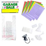 Amram Garage and Yard Sale Sign Kit Includes Garage Sales Signs, Price Stickers, Shopping Bags, Tagging Gun, Blank Tags, Assorted Attachments and Fasteners