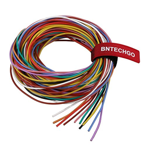 (BNTECHGO 20 Gauge Silicone Wire Kit Ultra Flexible 10 Color High Resistant 200 deg C 600V Silicone Rubber Insulation 20 AWG Silicone Wire 100 Strands of Tinned Copper Wire Stranded Wire Model )