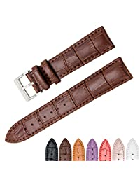 CIVO Genuine Leather Watch Bands Top Calf Grain Leather Watch Strap 18mm 20mm 22mm for Men and Women (Dark Brown, 20mm)