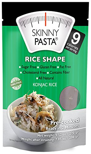 Skinny Pasta 9.52 oz - The Only Odor Free 100% Konjac Noodle (Shirataki Noodles) - Pasta Weight loss - Low Calorie Food - Healthy Diet Pasta - Rice - 6-Pack (Dried Pasta)