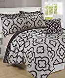 BNF Home Jacquard Sherpa 6 Piece Bedspread Set King Gray