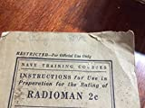 Navy Training Courses - Instructions for Use in Preparation for the Rating of RADIOMAN 2c