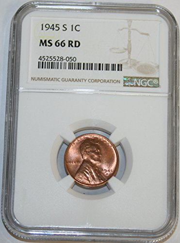 1945 S Lincoln Cent MS66 NGC RD