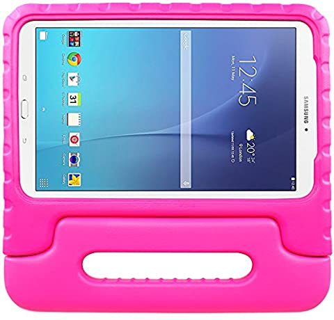 Galaxy Tab E 9.6 Case-SIMPLEWAY EVA Kids Shock Proof Convertible Handle Light Weight Cover for Samsung Galaxy Tab E / Tab E Nook 9.6 Inch 2015 Tablet (Fit Both WiFi and Verizon 4G LTE (Galaxy 4g Lte Tablet)