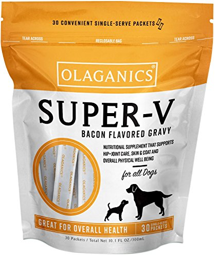 Olaganics Super-V Vitamin Gravy for Large Dogs. Supplement That Supports Your Dog s Health Wellness