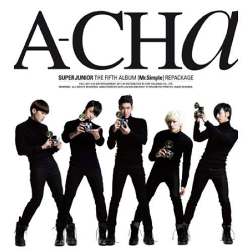 SUPER JUNIOR [A-CHA] 5th Repackage Album CD+Booklet+Tracking Number K-POP SEALED