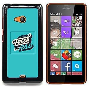 Queen Pattern - FOR Microsoft Nokia Lumia 540 N540 - Fresh Rad Green Retro Vintage Poster - Cubierta del caso de impacto con el patr???¡¯???€????€???&