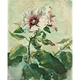 Canvas Prints Of Oil Painting 'John La Farge,Study Of Pink Hollyhocks In Sunlight,from Nature,1879' 16 x 20 inch / 41 x 50 cm , Polyster Canvas Is For Gifts And Basement, Gym And Laundry Ro decoration
