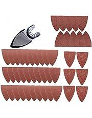 Vinger Schuren Bladen Papier Pads Zand Disc Kit Set Voor Oscillerende Multitools Zaagbladen Onderdelen Driehoekige Schuurpapier Power Tool 51 STKS