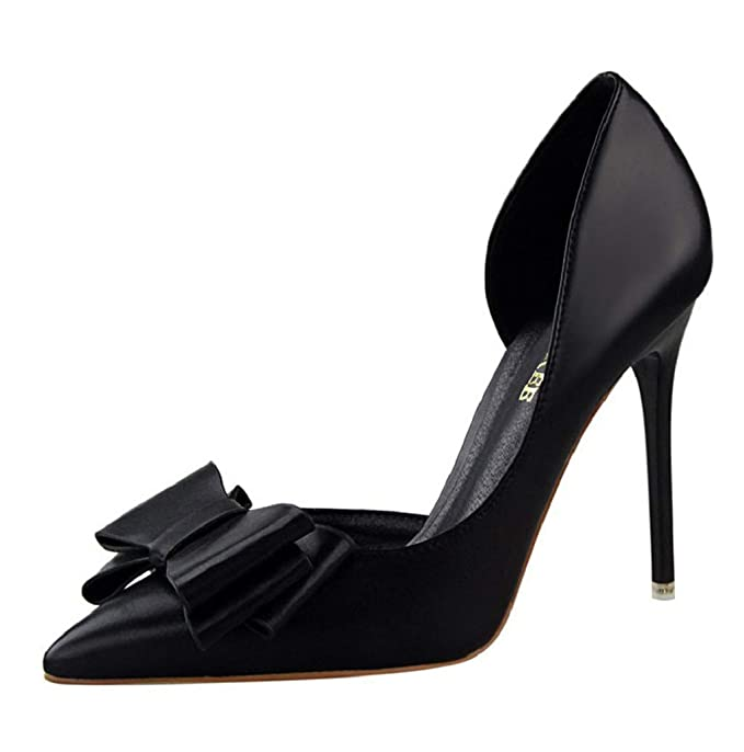 cb30421f23 Women Sandals,JHKUNO Spring & Autumn Pointed Toe Christian Heels Pump Shoes  Stiletto Big Bow