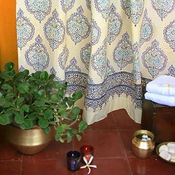 Amazon.com: Morning Dew ~ Blue Yellow French Fair Trade Bath ...